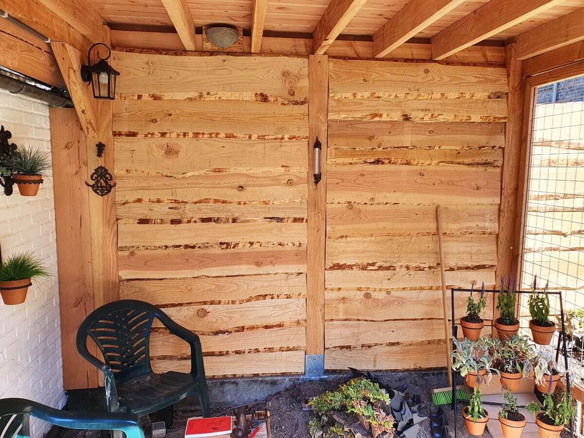 Overkapping van hout